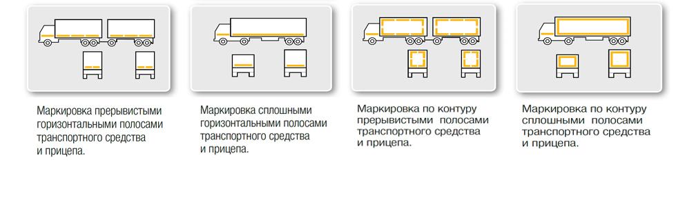 Контурная маркировка (световозврат 3М)