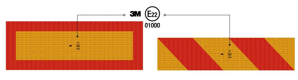 Задние опознавательные знаки 3М