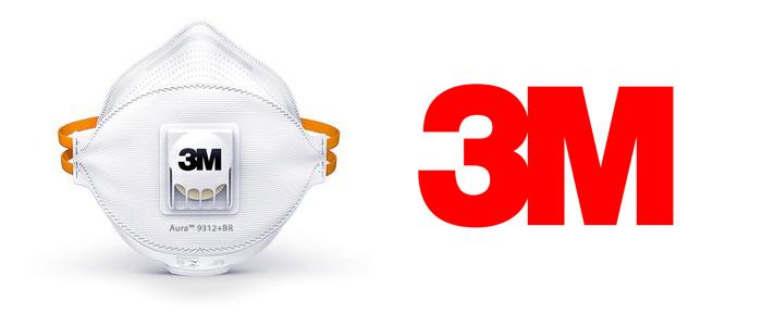 маска защитная 3м с клапаном